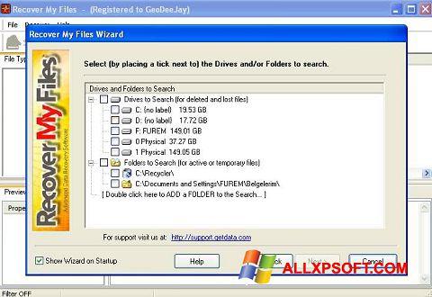 Ekran görüntüsü Recover My Files Windows XP