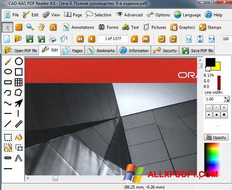 Ekran görüntüsü PDF Reader Windows XP