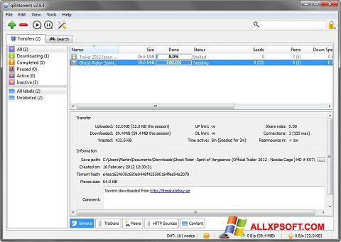 Ekran görüntüsü qBittorrent Windows XP