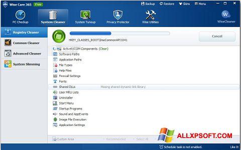 Ekran görüntüsü Wise Care 365 Windows XP