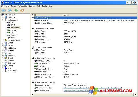 Ekran görüntüsü AIDA32 Windows XP