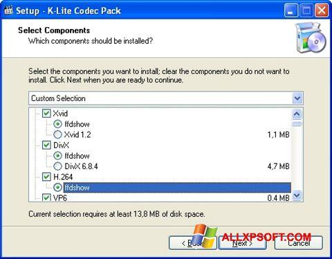Ekran görüntüsü K-Lite Codec Pack Windows XP