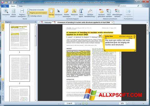 Ekran görüntüsü Nitro PDF Reader Windows XP