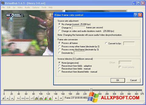 Ekran görüntüsü VirtualDubMod Windows XP