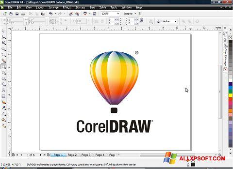 Ekran görüntüsü CorelDRAW Windows XP