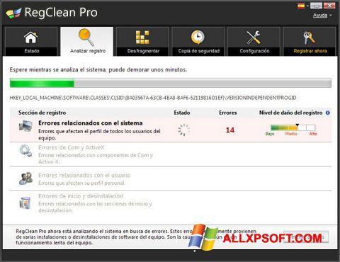 Ekran görüntüsü RegClean Pro Windows XP