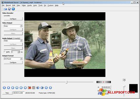 Ekran görüntüsü Avidemux Windows XP