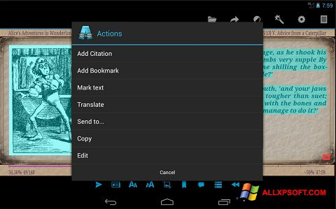 Ekran görüntüsü AlReader Windows XP