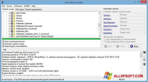 Ekran görüntüsü AVZ Windows XP