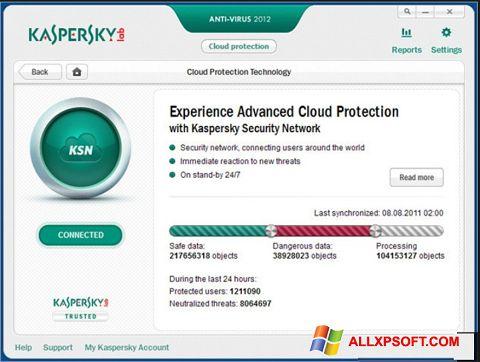 Ekran görüntüsü Kaspersky Windows XP