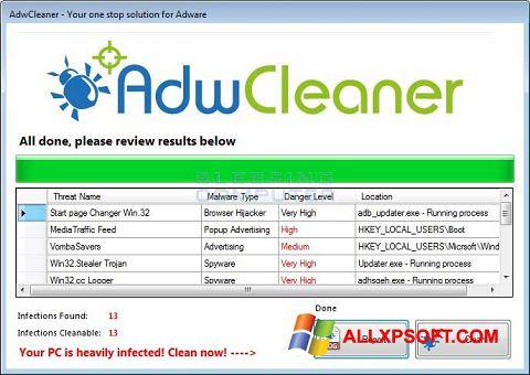 Ekran görüntüsü AdwCleaner Windows XP