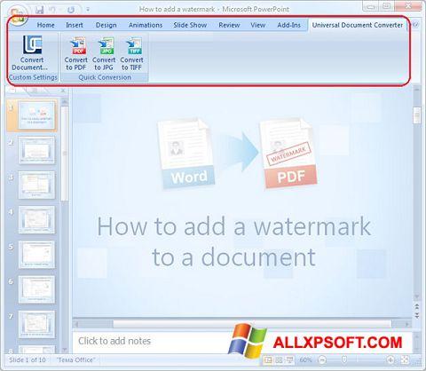 Ekran görüntüsü Microsoft PowerPoint Windows XP