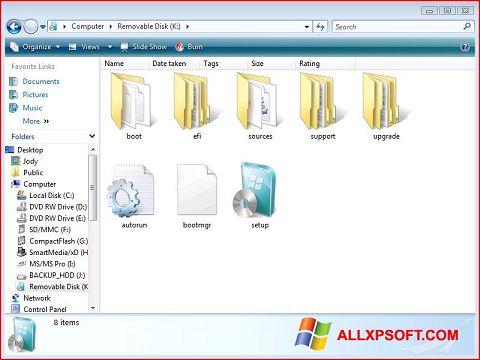 Ekran görüntüsü Windows 7 USB DVD Download Tool Windows XP