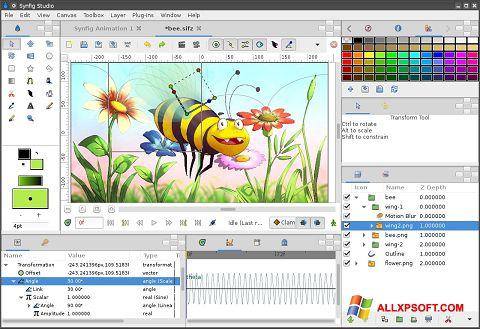 Ekran görüntüsü Synfig Studio Windows XP