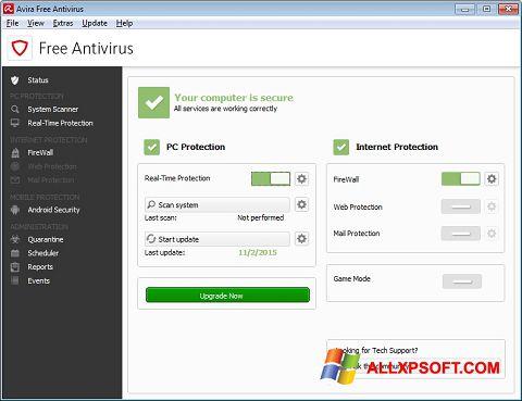 Ekran görüntüsü Avira Free Antivirus Windows XP