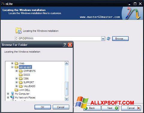 Ekran görüntüsü nLite Windows XP