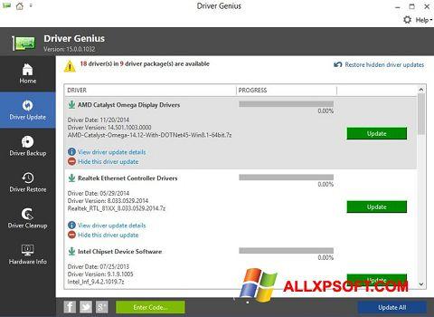 Ekran görüntüsü Driver Genius Windows XP