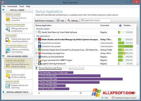 Ekran görüntüsü Reg Organizer Windows XP