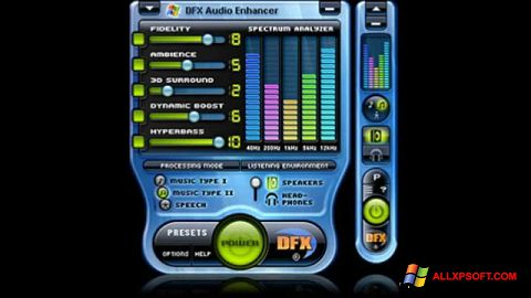 Ekran görüntüsü DFX Audio Enhancer Windows XP